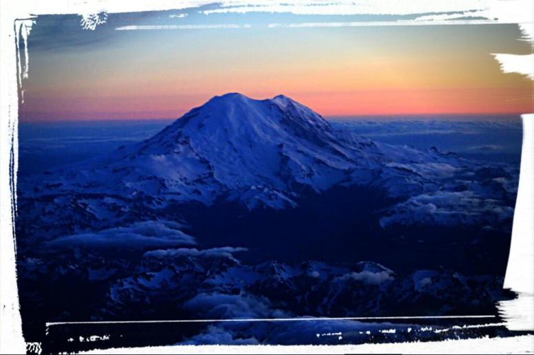 Mt Rainier from above